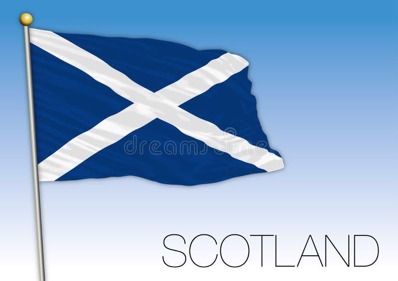 De vlag van Schotland, het Verenigd Koninkrijk, Europa royalty-vrije illustratie