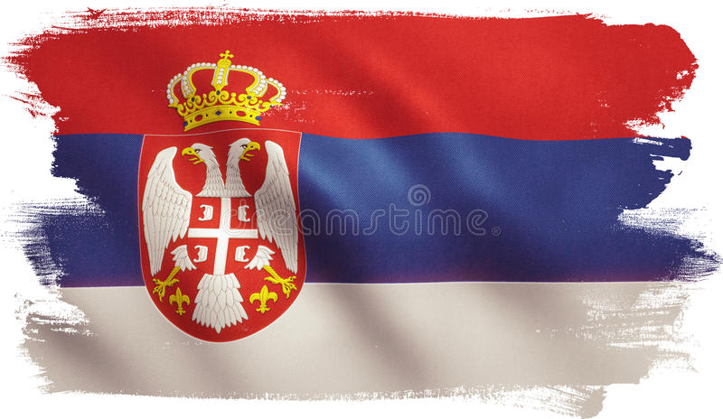 De vlag van Servië royalty-vrije illustratie