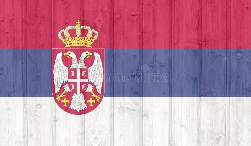 De vlag van Servi? royalty-vrije stock afbeeldingen