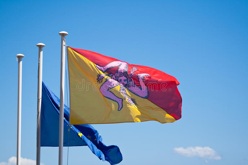 De vlag van Sicilië royalty-vrije stock afbeelding