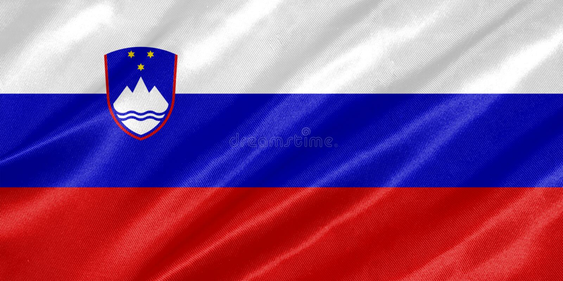 De vlag van Slovenië royalty-vrije illustratie