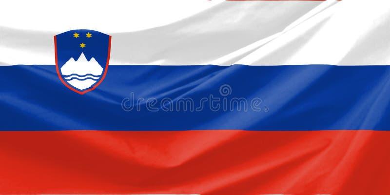 De Vlag van Slovenië stock illustratie