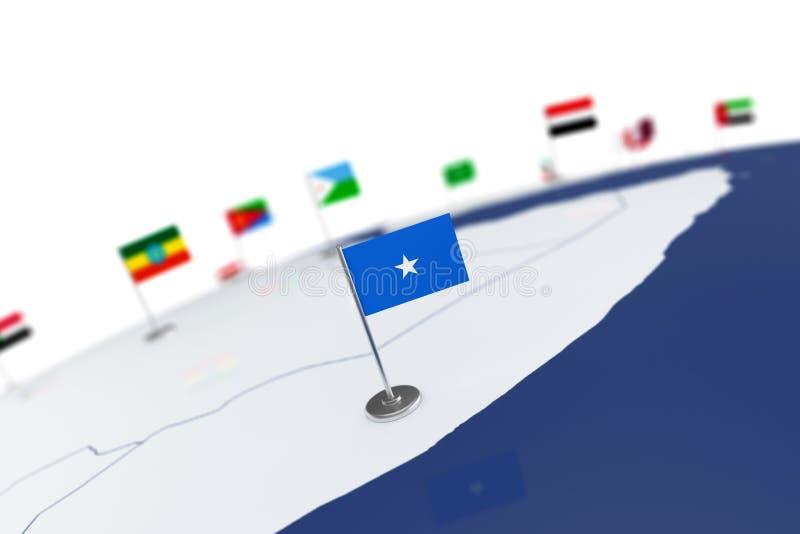 De vlag van Somalië vector illustratie