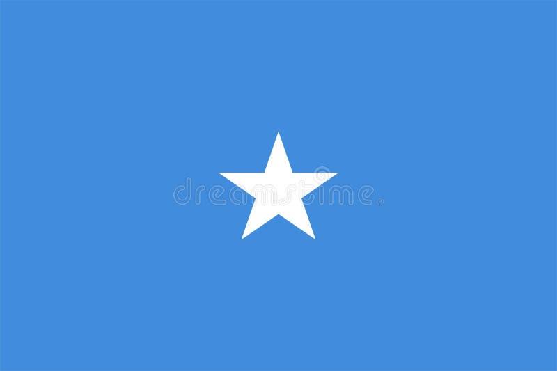 De Vlag van Somalië royalty-vrije illustratie