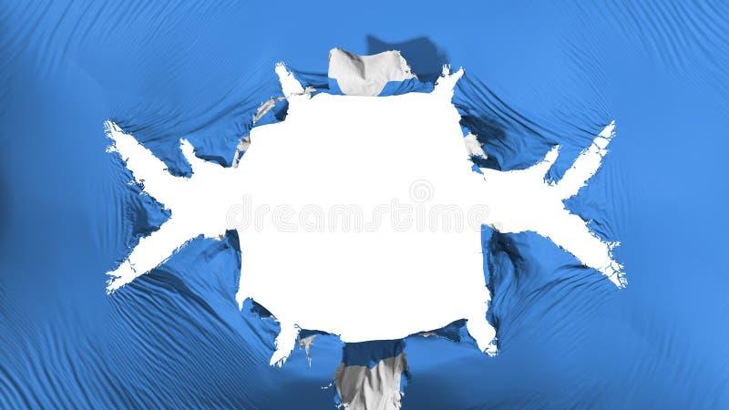 De vlag van Somalië met een groot gat vector illustratie