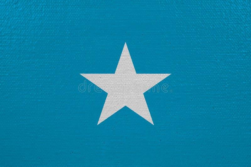 De vlag van Somalië op canvas royalty-vrije illustratie
