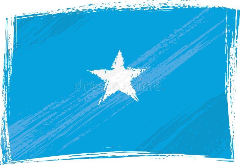 De vlag van Somalië van Grunge stock illustratie