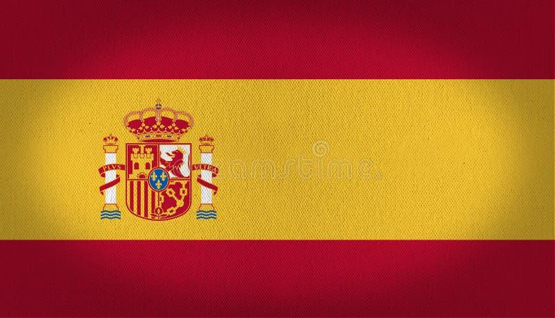 De vlag van Spanje vector illustratie