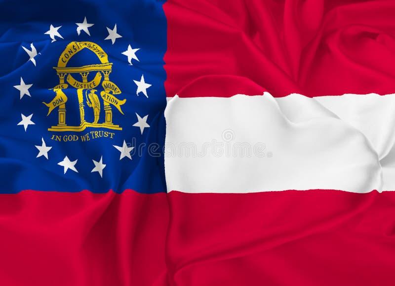 De Vlag van de staat van Georgië vector illustratie