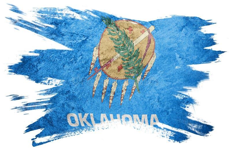 De vlag van de staat van Grungeoklahoma De slag van de de vlagborstel van Oklahoma stock foto's