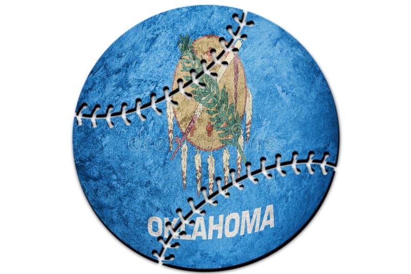 De vlag van de staat van honkbaloklahoma De vlag van achtergrond Oklahoma Honkbal vector illustratie