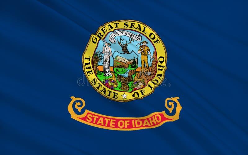 De Vlag van de staat van Idaho royalty-vrije illustratie