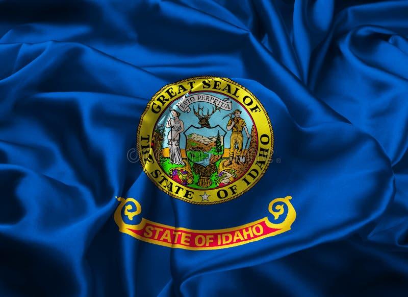 De Vlag van de staat van Idaho stock illustratie