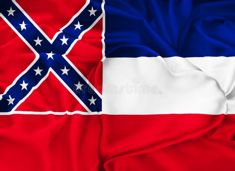 De vlag van de staat van de Mississippi stock illustratie