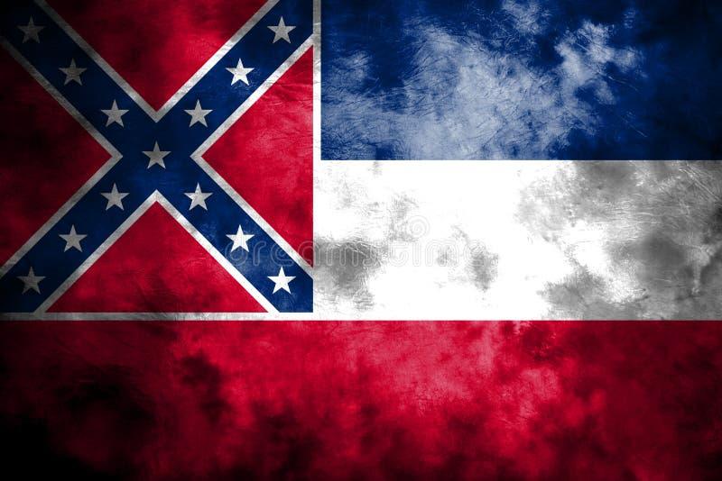 De vlag van de staat van de Mississippi grunge, de Verenigde Staten van Amerika royalty-vrije illustratie