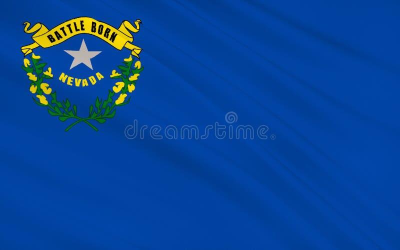 De Vlag van de staat van Nevada royalty-vrije illustratie