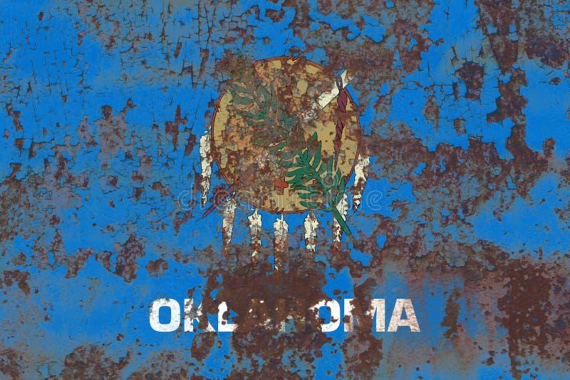 De vlag van de staat van Oklahoma grunge, de Verenigde Staten van Amerika royalty-vrije stock fotografie