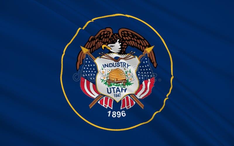De vlag van de staat van Utah royalty-vrije illustratie