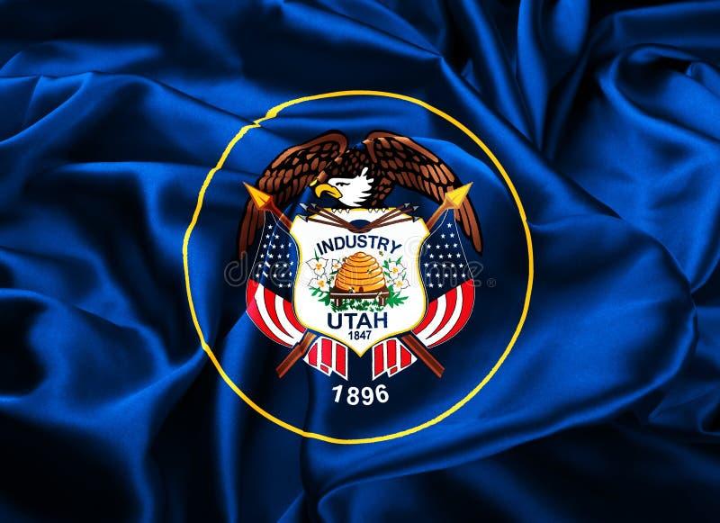 De vlag van de staat van Utah stock illustratie