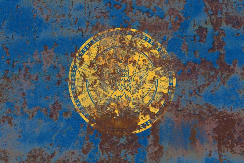 De vlag van de de stadsrook van Atlanta, Georgia State, de Verenigde Staten van Amerika royalty-vrije stock afbeeldingen