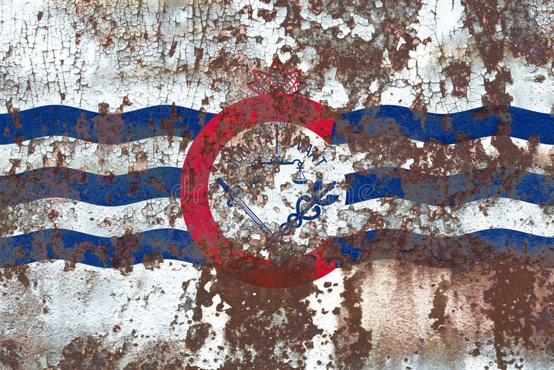 De vlag van de de stadsrook van Cincinnati, de Staat van Ohio, de Verenigde Staten van Amerika royalty-vrije stock foto's