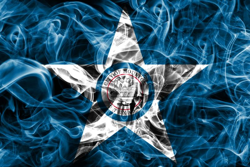 De vlag van de de stadsrook van Houston, Texas State, de Verenigde Staten van Amerika stock foto's