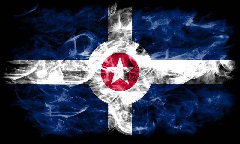 De vlag van de de stadsrook van Indianapolis, Indiana State, de Verenigde Staten van Amerika stock afbeelding