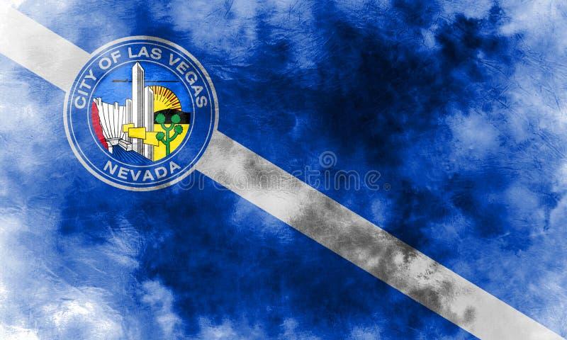 De vlag van de de stadsrook van Las Vegas, Nevada State, Verenigde Staten van Americ stock illustratie