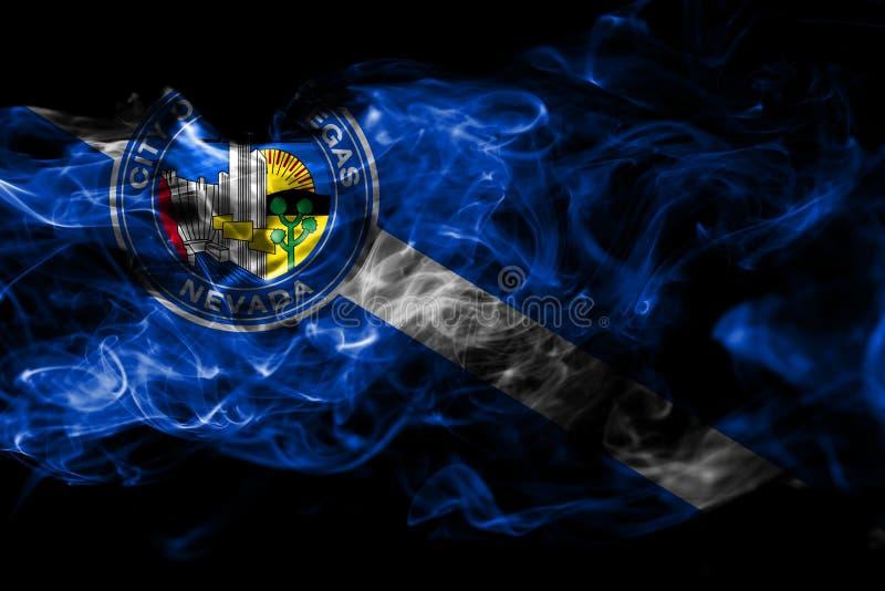 De vlag van de de stadsrook van Las Vegas, Nevada State, Verenigde Staten van Americ royalty-vrije illustratie