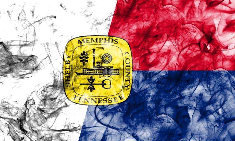 De vlag van de de stadsrook van Memphis, Tennessee State, Verenigde Staten van Ameri stock afbeeldingen