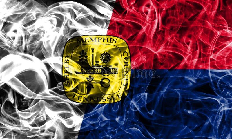 De vlag van de de stadsrook van Memphis, Tennessee State, Verenigde Staten van Ameri stock afbeelding