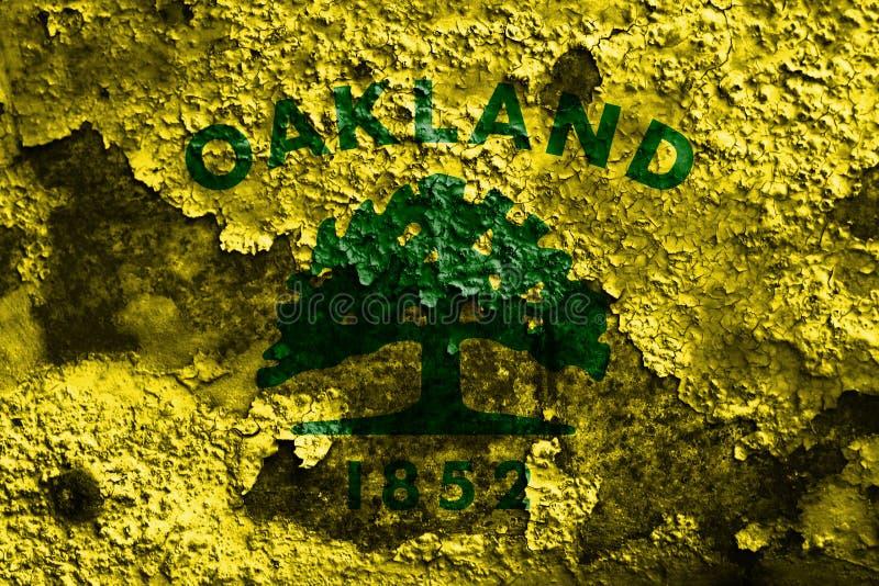 De vlag van de de stadsrook van Oakland, de Staat van Californië, Verenigde Staten van Amer royalty-vrije stock afbeelding