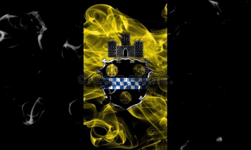 De vlag van de de stadsrook van Pittsburgh, de Staat van Pennsylvania, Verenigde Staten van royalty-vrije stock afbeeldingen