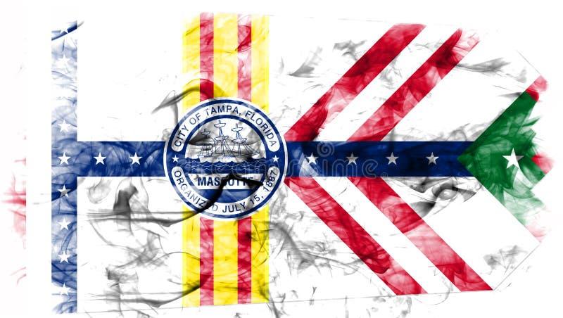 De vlag van de de stadsrook van Tamper, de Staat van Florida, de Verenigde Staten van Amerika vector illustratie