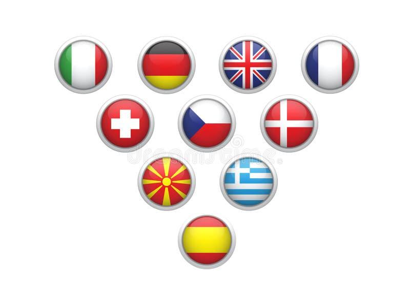 De vlag van staten vector illustratie