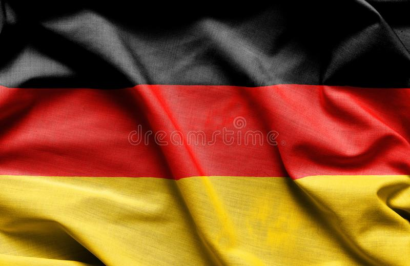 De vlag van de stoffentextuur van Duitsland stock foto