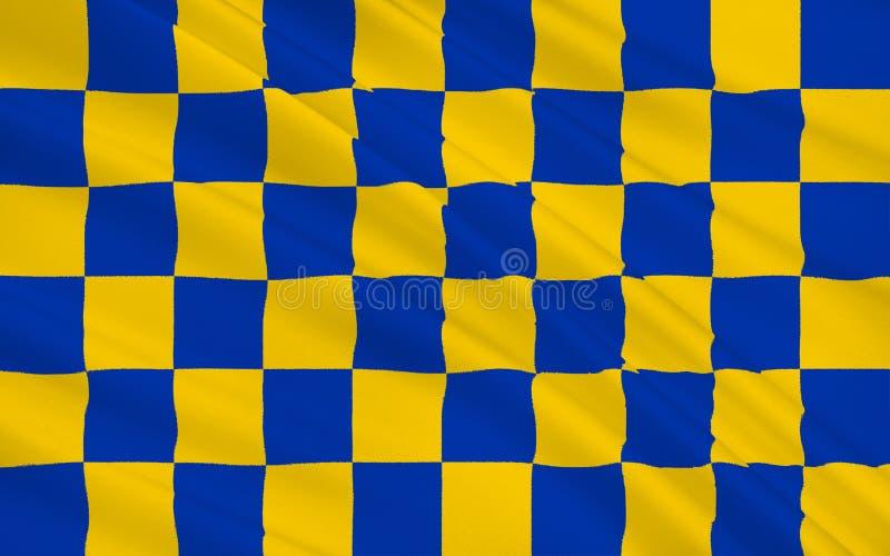 De vlag van Surrey is een provincie, Engeland vector illustratie