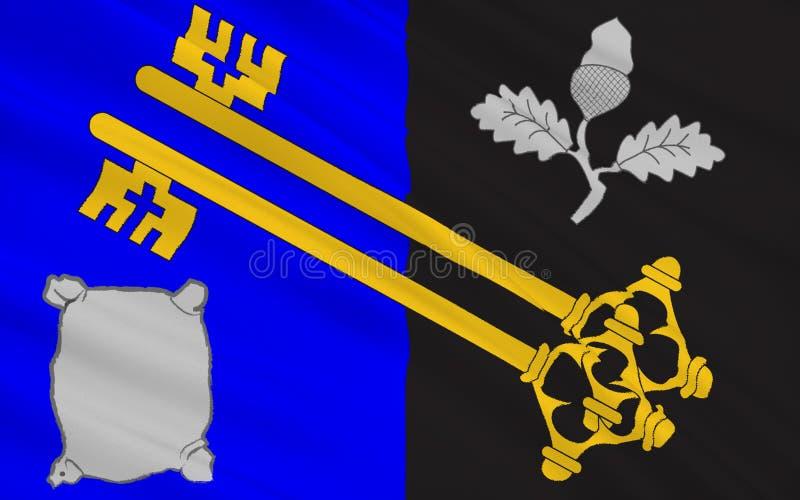 De vlag van Surrey is een provincie, Engeland royalty-vrije illustratie