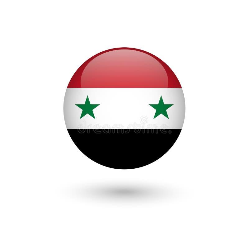 De vlag van Syrië om glanzend royalty-vrije illustratie