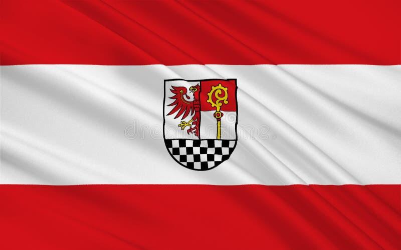 De vlag van teltow-Flaeming is een district in Brandenburg, Duitsland royalty-vrije illustratie