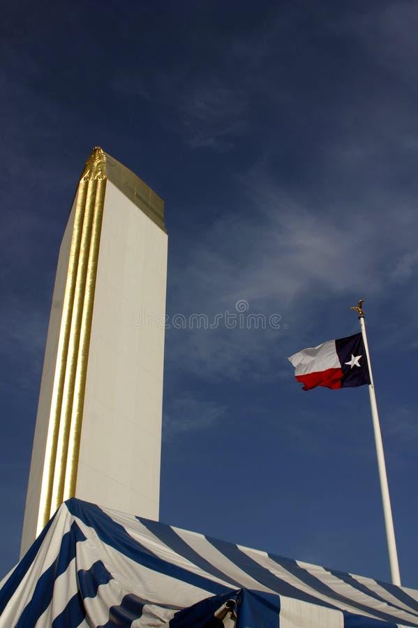 Download De Vlag Van Texas Bij De Grote Bovenkant Stock Foto - Afbeelding bestaande uit staten, stijging: 54608