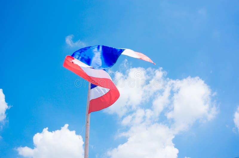 De Vlag van Thailand stock afbeeldingen