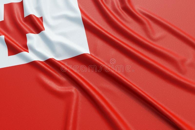 De vlag van Tonga royalty-vrije illustratie