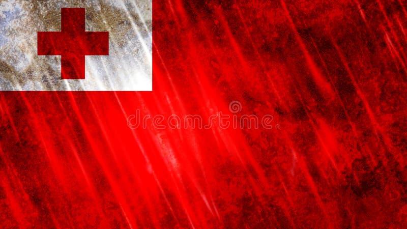 De vlag van Tonga stock illustratie