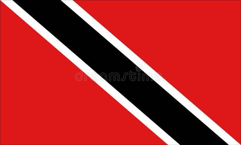 De vlag van Trinidad en van Tobago vector illustratie