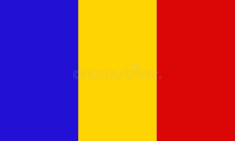 De Vlag van Tsjaad stock illustratie