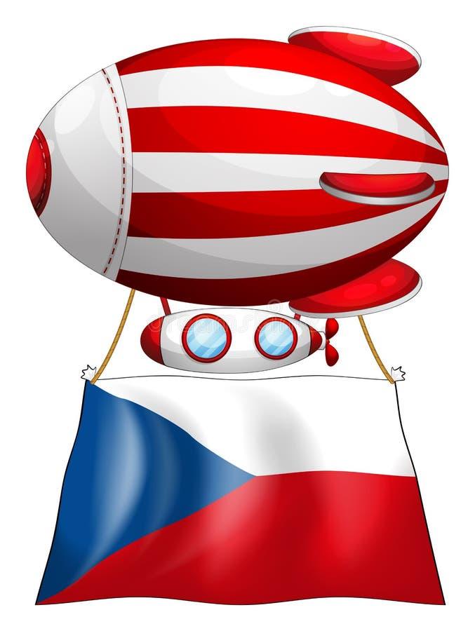 De vlag van Tsjechische Republiek en de ballon stock illustratie