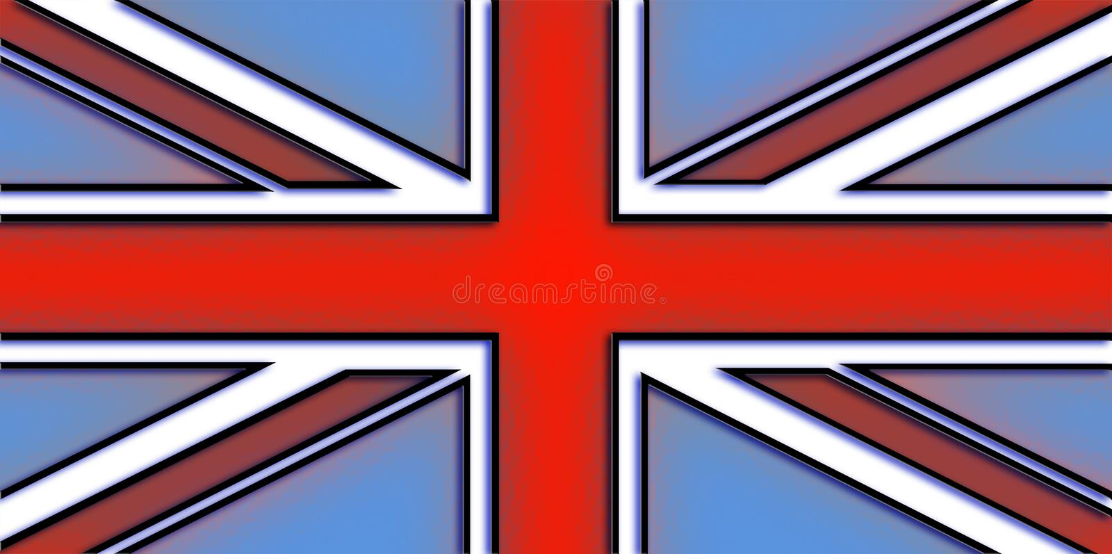 De Vlag van Union Jack vector illustratie