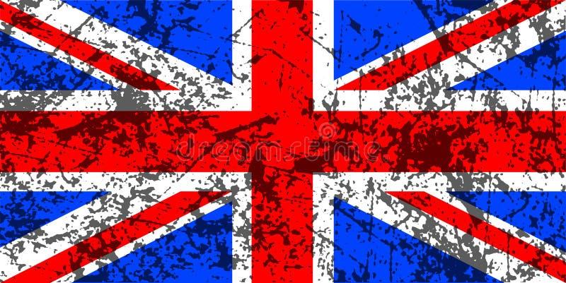 De vlag van Union Jack van Grunge stock illustratie