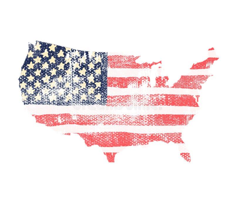 De vlag van de V.S., vasteland Amerika vector illustratie